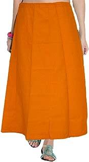 Golden Yellow Saree Inskirt Petticoat Cotton - Free Size