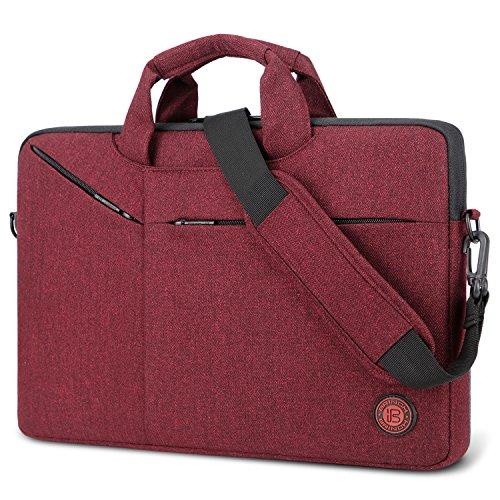 BRINCH Laptop Tasche 15.6 Zoll Aktentasche Herren/Damen Leicht umhängetaschen Business Schutertasche Laptop Schutzhülle kompatibel mit Notebook Laptop für Geschäft Büro Schule,Rot