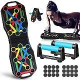 Jeteven Push Up Board, Liegestützgriffe 12-in-1-Multifunktions-Muskelboard, Bodybuilding-Trainingsgeräte, für Heimfitness-Trainingsgeräte Rot