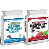 90 Raspberry Ketone Plus 30 Colon Cleanse Weight Loss Slimming Diet Pills Max