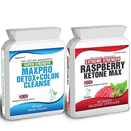 90 Raspberry Ketone Plus 30 Colon Cleanse Weight Loss Slimming Diet Pills Max Raspberry Max 1500mg Daily + Super Strength Max Pro