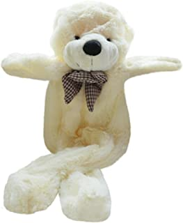 Fengheshun 180 cm Super Giant Teddy Bear Outer Cover Animal Toy Huge Bear Shell Purple (Not Filled),Give Girlfriend The Best Gift On Valentine's Day (White, 1.8m)