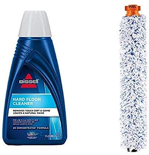 Bissell 1144N Hard Floor Cleaner Reinigungsmittel für alle Hartboden-Reinigungsgeräte, 1 x 1 Liter & BISSELL 2380 CrossWave Hartboden-Bürstenrolle