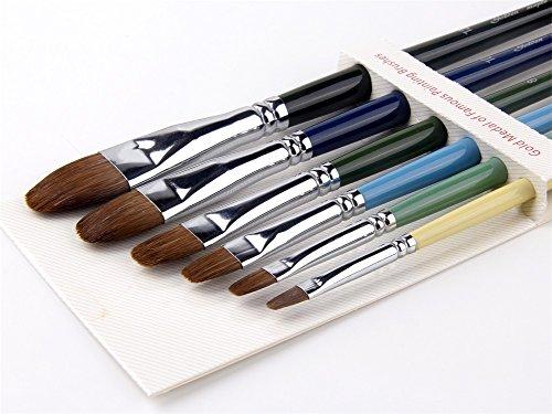 Fuumuui 5 Piezas Cuchillos de Paleta de Acero Inoxidable Mango de Madera Cuchillo de Pintura para la Mezcla de Pintura al óleo