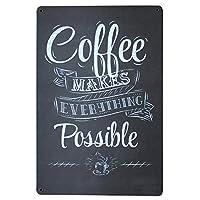 作られたコーヒー メタルポスター壁画ショップ看板ショップ看板表示板金属板ブリキ看板情報防水装飾レストラン日本食料品店カフェ旅行用品誕生日新年クリスマスパーティーギフト