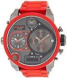 Diesel DZ7279 - Reloj analógico - Digital de Cuarzo para Hombre, Correa de plástico Color Rojo (cronómetro, Agujas luminiscentes)