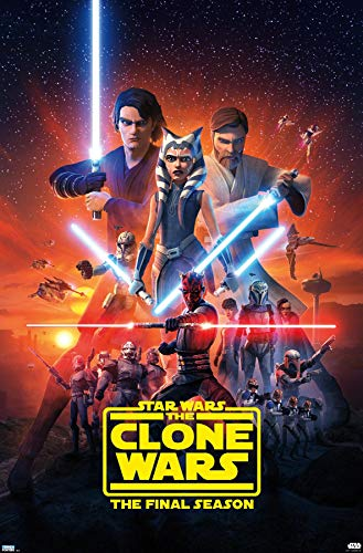 Trends International Star Clone Wars-Season 7 Key Art Wall Poster, 22.375' x 34', Premium Unframed Version