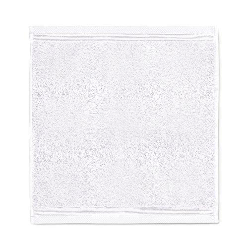Möve 017258775-030030-001 serviette lavette, Tissu-éponge, Snow, 30 x 30 cm