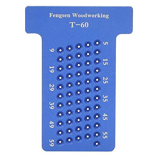 Herramientas de Carpintería de Precisión de Marcador de Regla de Marcado de Aleación de Aluminio En Forma de T(Azul)