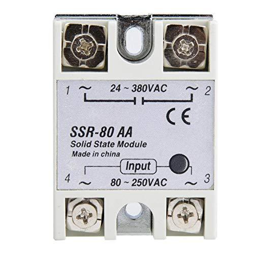 WULE-RYP Sólido Interruptor de relé de Estado de Fase única Módulo 80-250VAC relé de Estado sólido 80A Moudel
