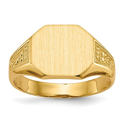 Diamond2Deal - Anello da uomo in oro giallo 14 ct, con sigillo