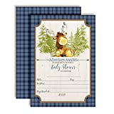 "Adventure Awaits Cute Moose-Themed Baby Sprinkle Shower Invitations for Boys, 20 5""x7"" Fill in Cards with Twenty White Envelopes by AmandaCreation"