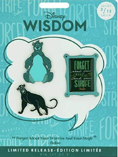 Disney Wisdom Pin Set – The Jungle Book – Marzo – Liberación Limitada
