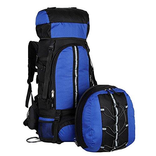 WuJiPeng Sac à Dos Multifonctionnel Extérieur De Camping De Randonnée Grande Capacité 80L Sac à Dos D'alpinisme Démontable Sac à Dos Imperméable Et Tactique,Blue