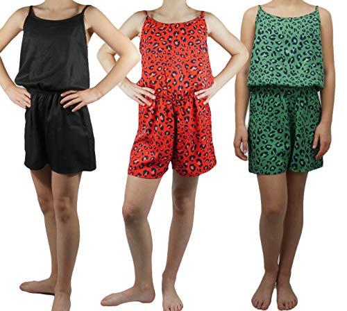 NAME IT LMTD by Mädchen Strap Suit Jumpsuit NLFHAVI Sommer Freizeit Anzug kurz, Farbe:Rot, Größe:152
