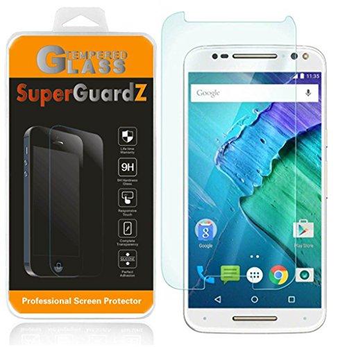 [2-Pack] For Motorola Moto X Pure Edition / Motorola Moto X Style - SuperGuardZ Tempered Glass Screen Protector, 9H, 0.3mm, 2.5D Round Edge, Anti-Scratch, Anti-Bubble