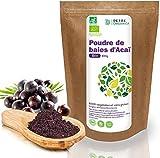 Detox Organica Acai Poudre Bio | Poudre d'Acai bio 100g | 100% végétalien et sans gluten