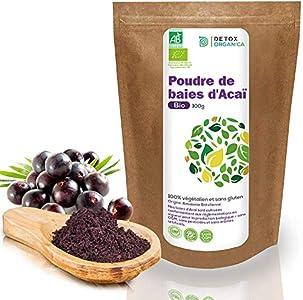 Bayas De Acai En Polvo Orgánico 100 g – Bayas Acai Congelado BIO (Freeze – Dried / Liofilizadas) – Acai Berry Extracto Crudo De La Pulpa – Cultivado en Brasil