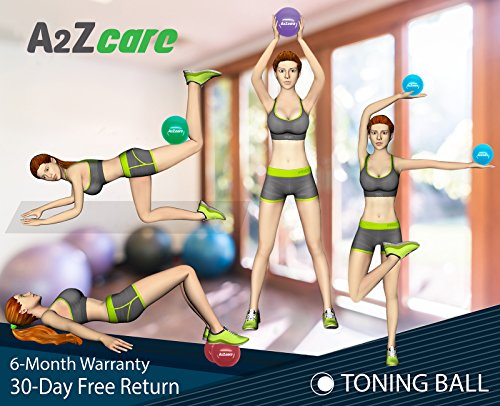A2ZCARE Toning Ball - Soft Weighted Mini Ball/Medicine Ball (Purple (8lbs))