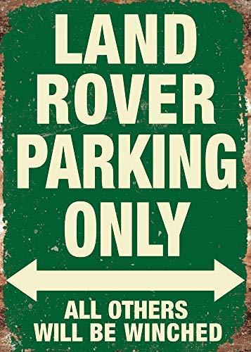 LYNNYO22Land Rover comando Onlygreen placca di metallo da parete, 20,3x 30,5cm