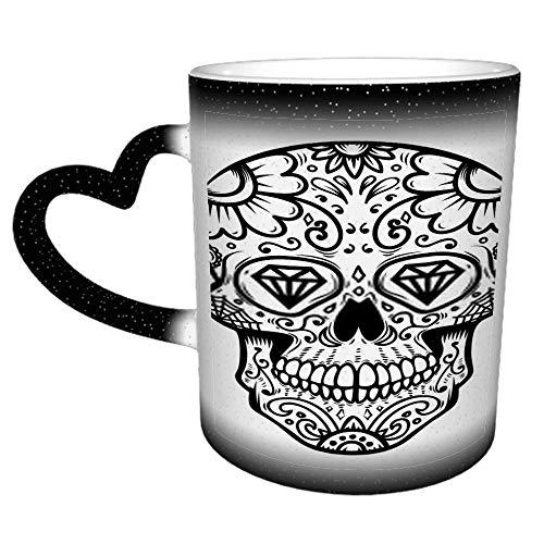 Zuckerschädel isoliert am weißen Tag Die Toten Dia De Los T Lustiges Geschenk/Geschenk - Tee/Kaffee Keramik Tasse 11oz