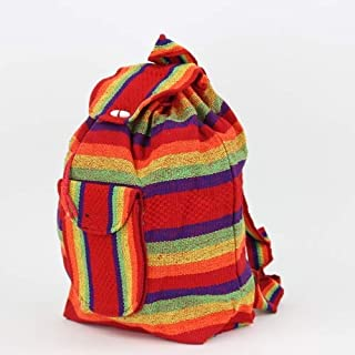 Mexican Baja Backpack - Mexican Bags - Bohemian Backpack - Cloth Backpack - Hippie Backpack -
