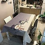 Tovaglia di Natale Rettangolare, Morbuy Tovaglie da Tavolo Impermeabile Antimacchia 100% Poliestere con Stampa 3D per Cucina Giardino Feste Natalizia Decorazioni (Coppia,140x160cm)