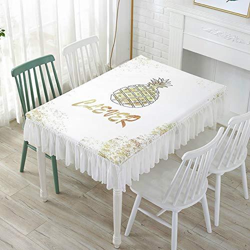 YOUYUANF Tischdecke waschbare Gartentischdecke Esstisch Schutzfolie PVC Kunststofftischdecke100x100x25 cm