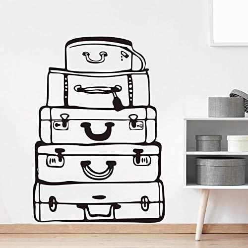 JXFM grote reistas muur sticker slaapkamer woonkamer bagage reizen muur sticker baby kinderkamer Vinyl decoratie 56x40cm