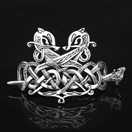 Celtic Hair Clips, Wikinger Metall Knoten, Haarnadeln – Pirat Rune Drachen Haarspange – irische Haardekoration – Frauen Haaraccessoires Geschenk