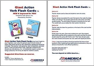 【小学生・中学生にオススメ 英語教材】Giant Action Verbs Flash Cards 動詞のカード