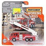 Matchbox Working Rigs San Diego Fire Rescue Pierce Velocity Aerial Platform Fire Truck, Red