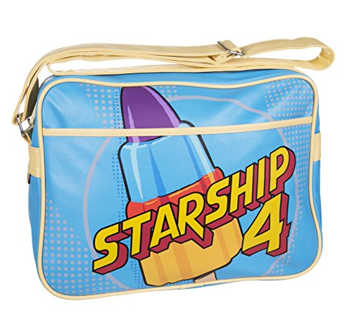 Walls Starship 4 Retro Ice Lolly Messenger Bag. Embossed logo, adjustable strap. Best price on web!