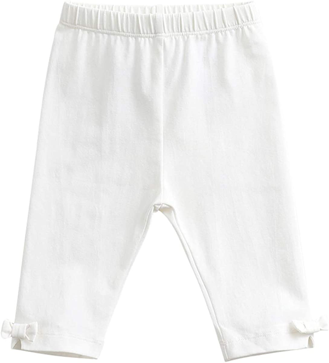 Ranking TOP2 marc janie Baby Toddler Free shipping anywhere in the nation Girls' Color Pants Solid Bow Capri