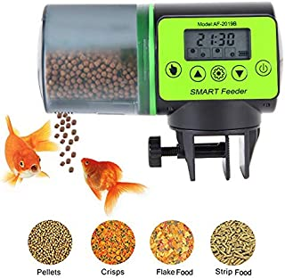 CDCASA Fish Feeder,Automatic Fish Feeder Vacation Feeder for Aquarium Tank Timer Feeder with Large Feeder 200ML Capacity for Vacation,Daily,Weekend,Business Trip