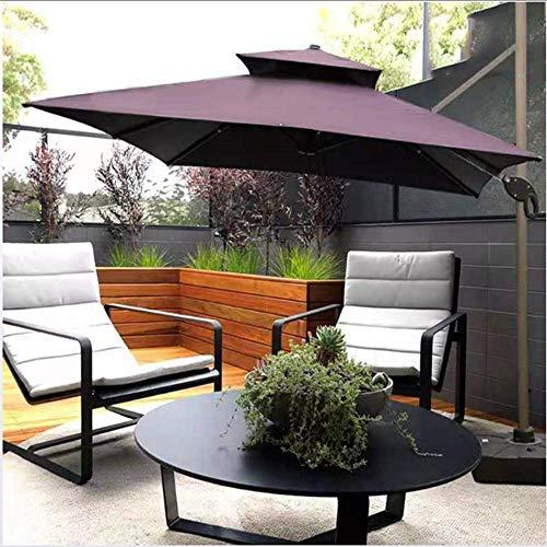 Hcyai Garten-Sonnenschirm mit Kurbel und Tilt, Sonnenschutz für Outdoor, Garten und Terrasse, 3 * 3m,01,3 * 3m