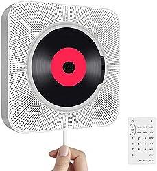 【Fonction 5 en 1】 1. lecteur CD portable; 2. Radio FM; 3. Haut-parleur HiFi Bluetooth; 4. Mini Home Boombox; 5. Lecteur de clé USB. Prise en charge des CD, CD-R, CD-RW, MP3, WMA, lecture de toutes sortes de CD sans tracas, Bluetooth intégré et entrée...