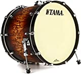 Tama Starclassic Maple Bass Drum - 18 Inches X 24 Inches Satin Molten Brown Burst