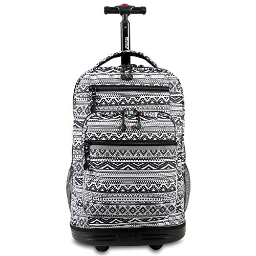 J World New York Sundance Laptop Rolling Backpack, Tribal