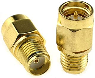Boscoqo SMA Male to SMA Female Connector RF Coax Coaxial Adapter Gold Plated Brass 2 Pack Premium Adapter Necessary Tight Fitting Low Lossy Wrench Flats for Antenna Amplifier Amp Splitter SMA Cables