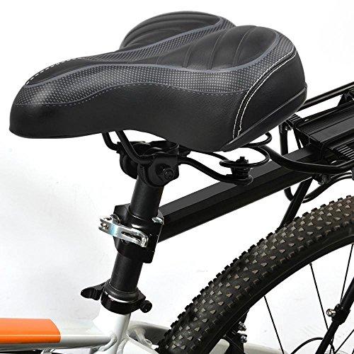 yahee bicicleta Asiento universal de repuesto–Sillín de bicicleta cómodo para hombre y mujeres negro