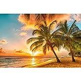 GREAT ART XXL Poster – Barbados Strand im Sonnenuntergang