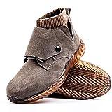 Zapatos de seguridad Zapatos de los hombres, el trabajo Soldador de acero del dedo del pie zapatos de seguridad, gamuza retardante de llama de protección de la seguridad del pie, con la cubierta prote