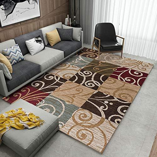 HXJHWB Alfombra Pelo Corto Pastel Diseño - Patrón Creativo impresión 3D Alfombra Interior Multicolor Costura hogar fácil Cuidado-Los 40CMx60CM