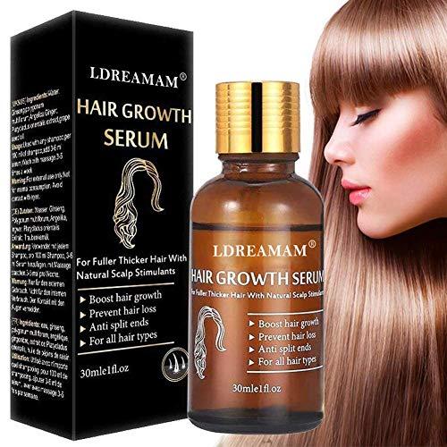 LDREAMAM Suero para el crecimiento del cabello y fortalece los folículos