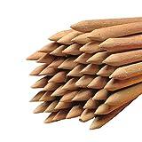 Hopser Food Fun - Varillas redondas de madera (6 mm de diámetro, 150 mm, para manzanas o gofres de madera de haya (10)