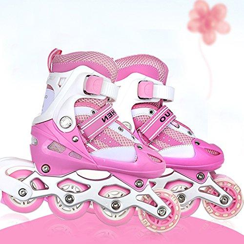 WeFun Kinder Inline Skates,Einstellbar Mädchen Roller Skates (M(35-38))