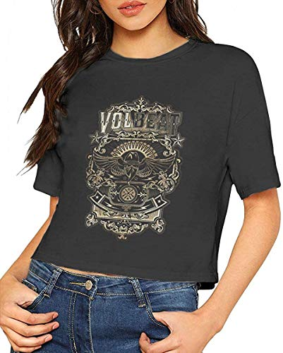 GloriaRSmitha Vol-Beat Women Leak Navel Tshirt Cotton Short Sleeve Casual Tshirt,X-Large