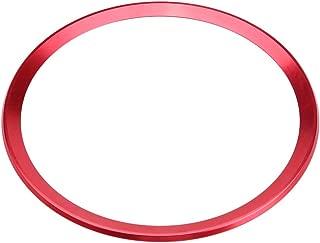 Interior Steering Wheel Ring Cover Trim Aluminum Alloy Car Steering Wheel Ring Cover Trim for Audi A1 A3 A4 A5 A6 Q3 Q5 (Red)