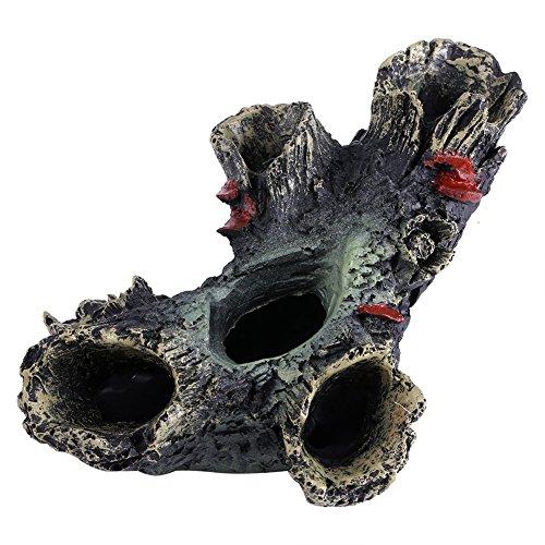 Zyyini Ornamento del Tronco de árbol del Acuario, Ornamento del Fregadero del Tronco de la Resina de la protección del Medio Ambiente para la decoración de la pecera del Acuario
